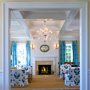 Photograph of Living Room of Shope Reno Wharton Designed House on Kiawah Island's Beach