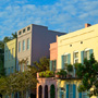 Rainbow Row, Downtown Charleston