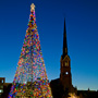 Marion Square decorated for Christmas