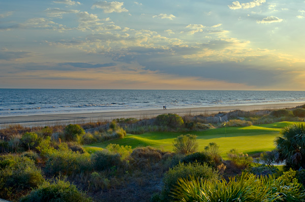 Par 3 on Turtle Point's Back Nine and the Kiawah Island Beach